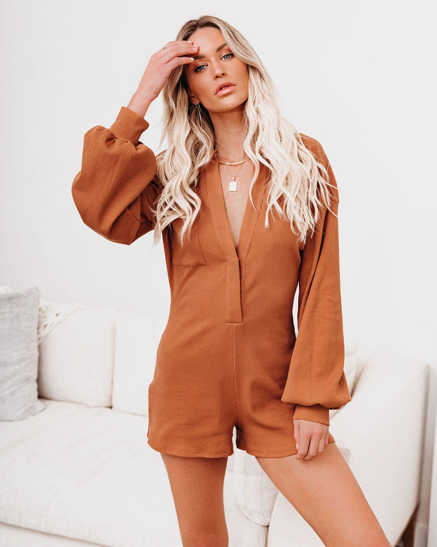 Taste Of Honey Cotton Collared Romper - FINAL SALE view 3