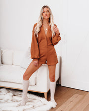 Taste Of Honey Cotton Collared Romper - FINAL SALE view 5
