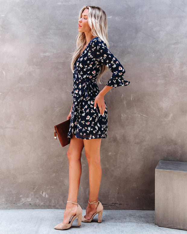 Taste Of Honey Floral Wrap Dress view 7