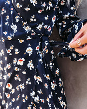 Taste Of Honey Floral Wrap Dress view 4