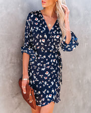 Taste Of Honey Floral Wrap Dress view 6