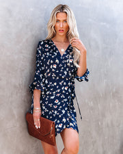Taste Of Honey Floral Wrap Dress view 8