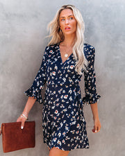 Taste Of Honey Floral Wrap Dress view 3