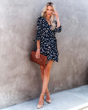 Taste Of Honey Floral Wrap Dress view 9