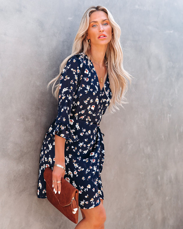 Taste Of Honey Floral Wrap Dress view 10