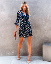 Taste Of Honey Floral Wrap Dress view 1