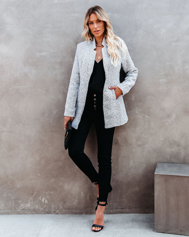 Tayshia Pocketed Coat - Heather Grey view 13