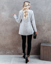Tayshia Pocketed Coat - Heather Grey view 3