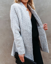 Tayshia Pocketed Coat - Heather Grey view 6