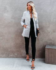 Tayshia Pocketed Coat - Heather Grey view 10