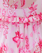 Tender Heart Floral Ruffle Tie Duster view 4