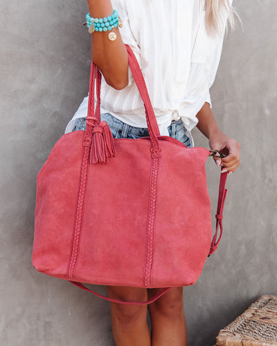 Tenzin Braided Suede Tote Bag