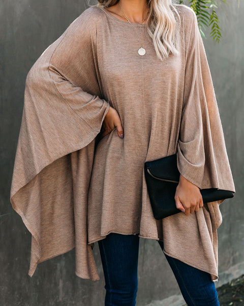 Thanksgiving Knit Poncho  - FINAL SALE