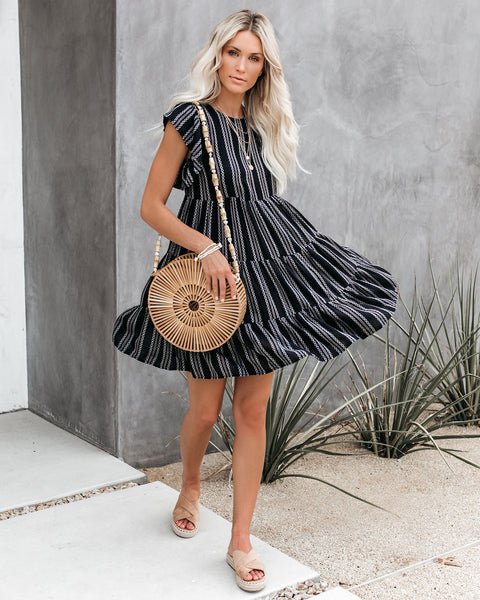 The Beach Club Tiered Babydoll Dress