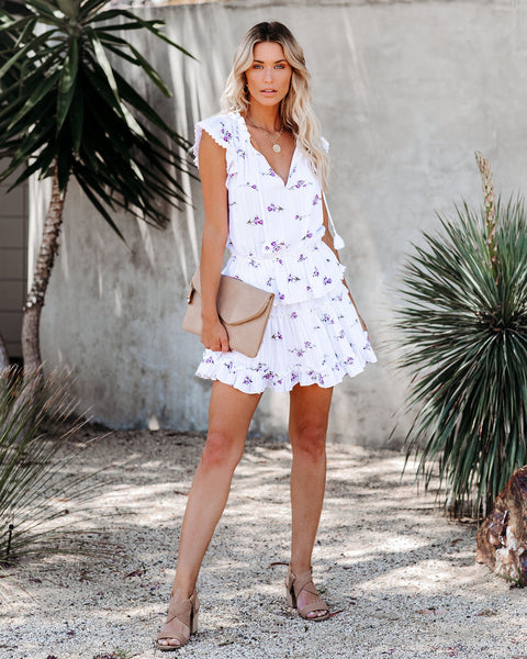 The Bright Side Floral Tiered Dress