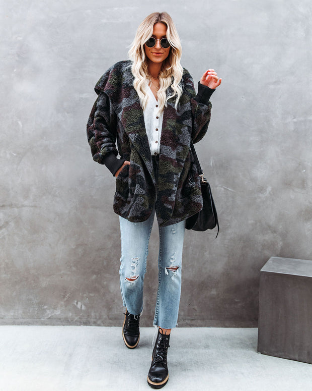 The Coziest Yet Pocketed Cardigan - Camo