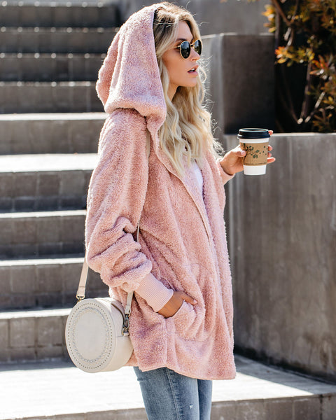 The Coziest Yet Pocketed Cardigan - Mauve