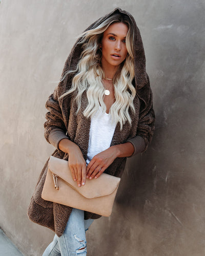 The Coziest Yet Pocketed Cardigan - Mocha