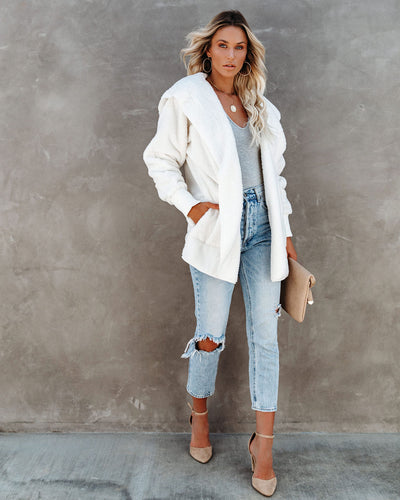 The Coziest Yet Pocketed Cardigan - Off White