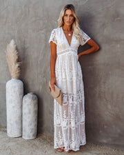The Day We Met Floral Lace Maxi Dress