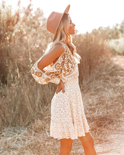 The Hills Are Alive Smocked Eyelet Dress