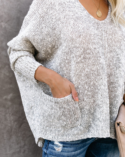 The Simple Life Pocketed Sweater