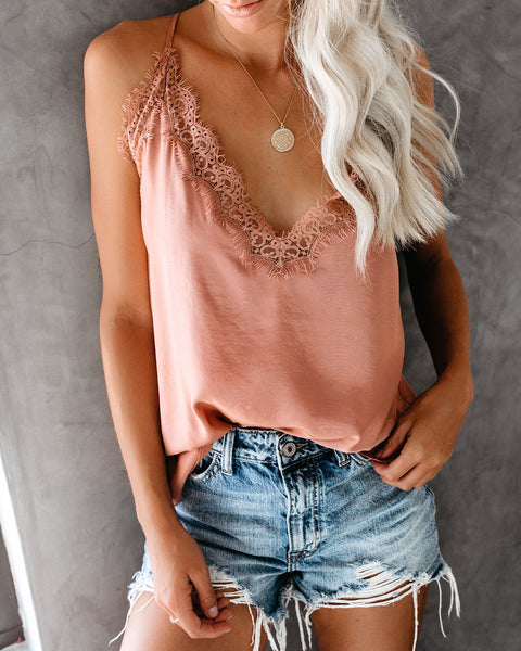 The Suite Life Satin Lace Cami Tank