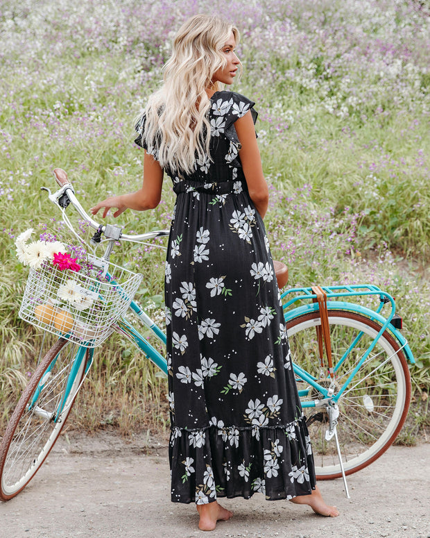 The Way Back Home Floral Ruffle Maxi Dress view 2