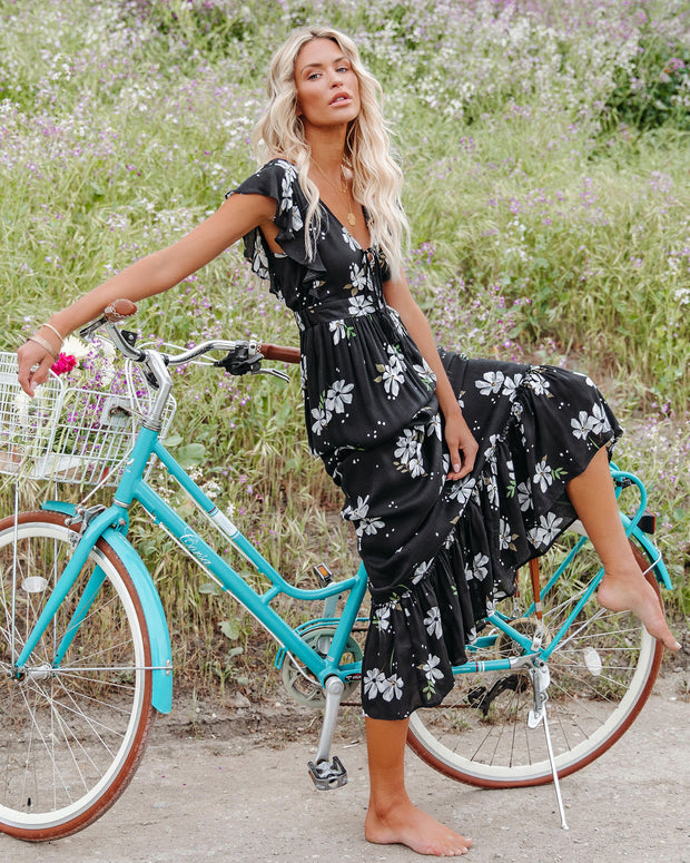 The Way Back Home Floral Ruffle Maxi Dress view 1