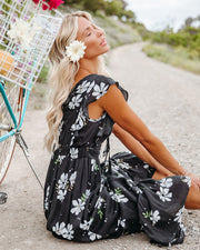 The Way Back Home Floral Ruffle Maxi Dress view 6