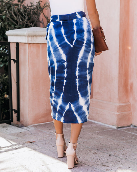 The World Is Your Oyster Tie Dye Wrap Midi Skirt