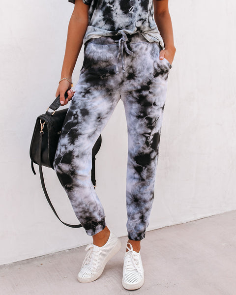 Thinking Out Loud Cotton Pocketed Tie Dye Joggers
