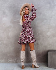 Thinking Out Loud Smocked Floral Babydoll Dress view 2