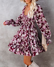 Thinking Out Loud Smocked Floral Babydoll Dress view 10