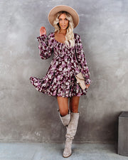 Thinking Out Loud Smocked Floral Babydoll Dress view 8