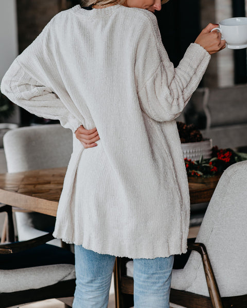 Think Of Me Pocketed Chenille Cardigan - FINAL SALE