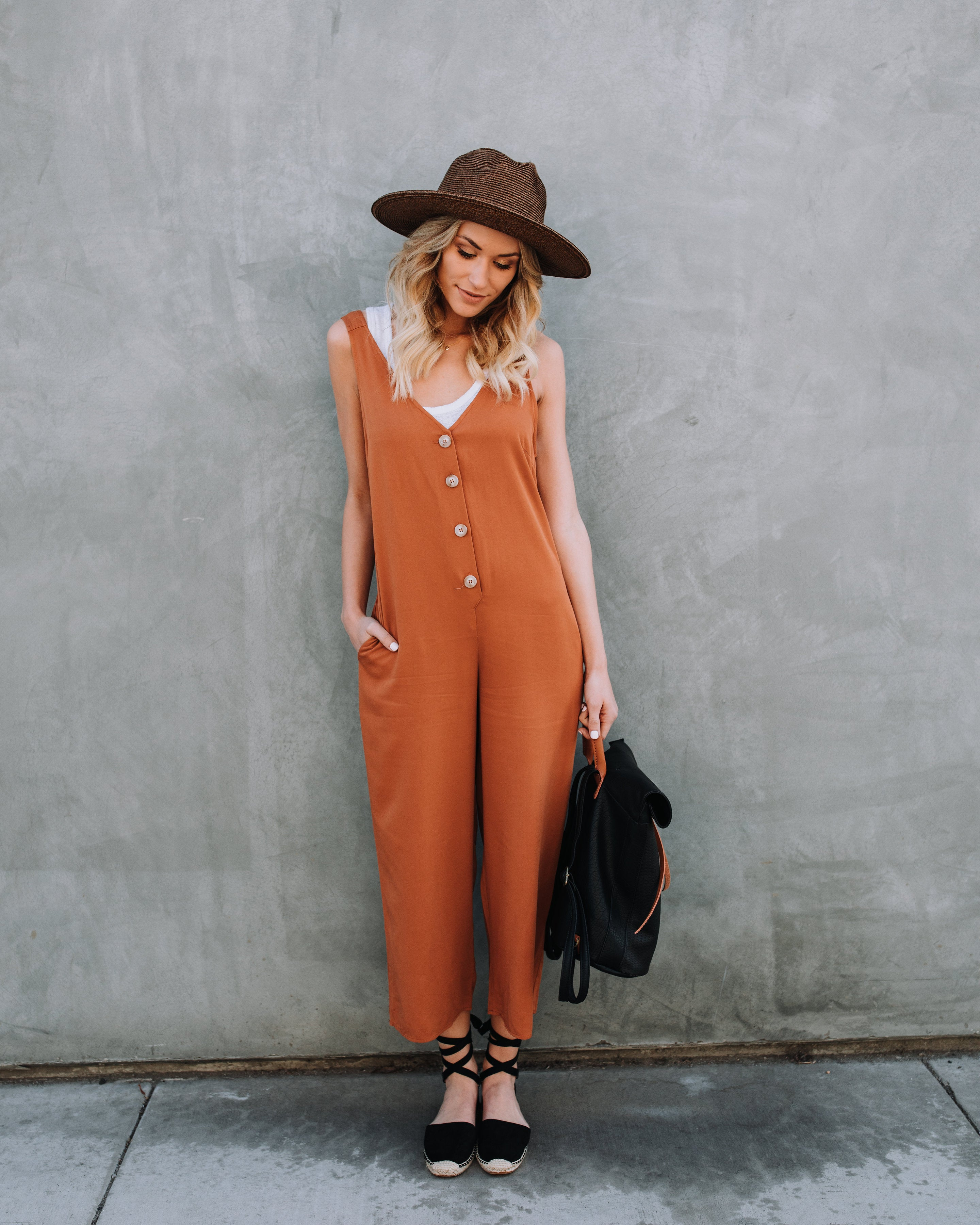 f9b3dd9b31e2 Carnaby Street Pocketed Jumpsuit - Amber – VICI