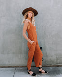 Carnaby Street Pocketed Jumpsuit - Amber
