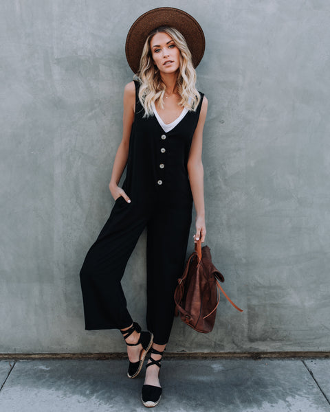 Carnaby Street Pocketed Jumpsuit - Black