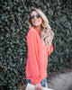 Love All Day Keyhole Top - Coral - FINAL SALE
