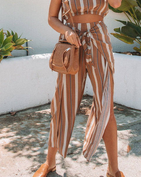 Here To Slay Striped Tie Pants - FINAL SALE