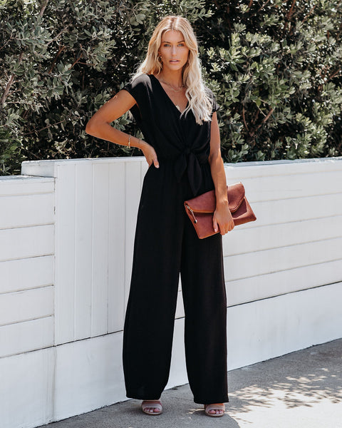 Tie The Knot Jumpsuit - Black - FINAL SALE
