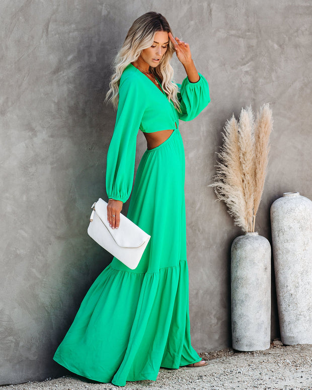 Time And Place Cutout Maxi Dress - Emerald