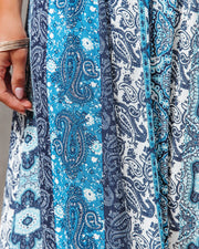 Time Spent Lace Up Paisley Maxi Dress view 4