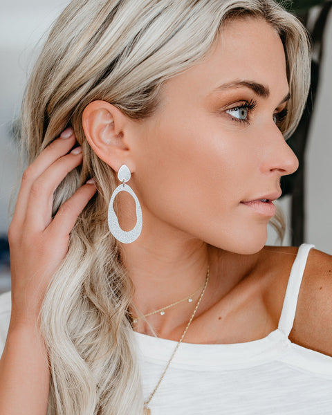 Time To Shine Statement Earrings - Silver
