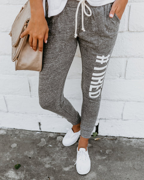 #Tired Luxe Pocketed Joggers