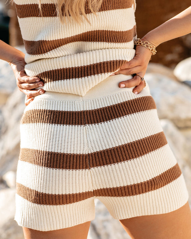 Tis The Sea-Sun Striped Knit Shorts - FINAL SALE view 2