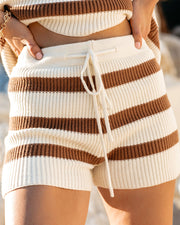 Tis The Sea-Sun Striped Knit Shorts - FINAL SALE view 4