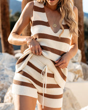 Tis The Sea-Sun Striped Knit Shorts - FINAL SALE view 5