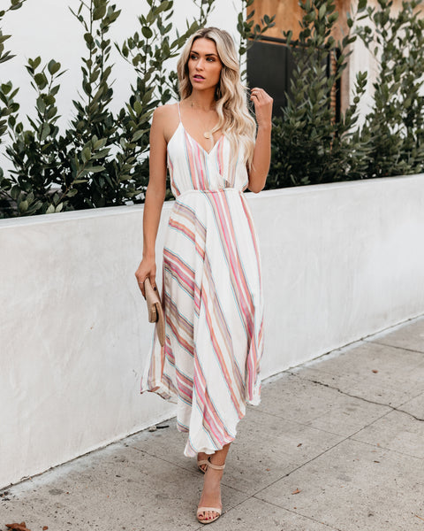 Today Was A Fairytale Shimmer Striped Dress